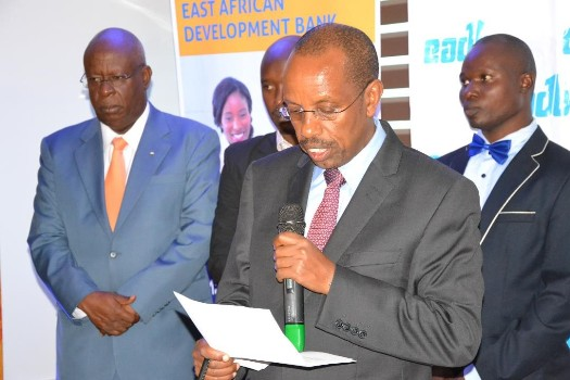 Permanent Secretary and Secretary to the Treasury Ministry of Finance, Planning and Economic Development, Keith Muhakanizi giving a speech on the during the farewell of the 3 successful teachers from the East African Region
