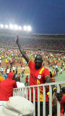 Real Estate dealer Denis Oryema Olyeko cheered the Uganda Cranes also