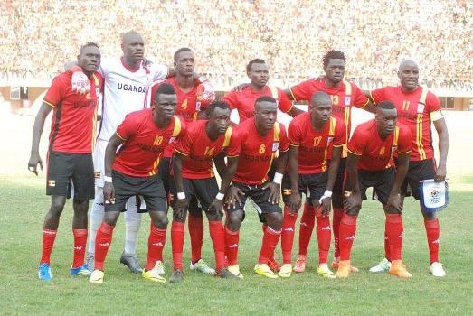 Uganda Cranes before Comoros game on Sunday