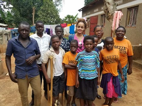 Carol Flower in the back with Jajja Esezza and children under her care