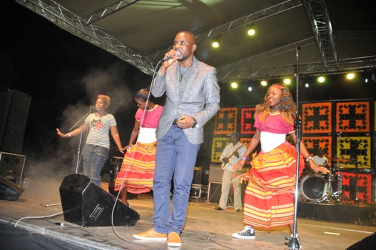 Mathias Walukaga was also one of the performers at the festival