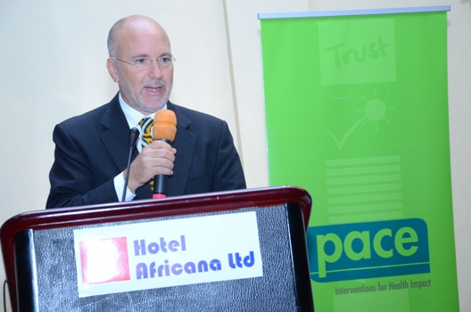 Dr. Steven Wiersma- CDC Uganda Country Director giving his speech at the conference