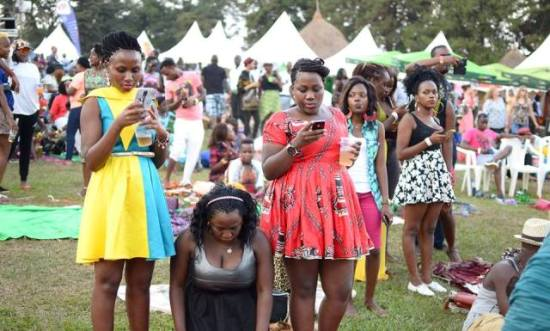 Some of the revellers at the last Blankets and Wine