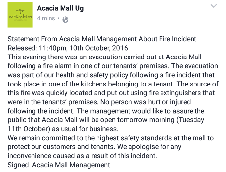 acacia-mall-fire-incident-statement