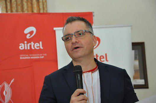 airtel-uganda-managing-director-anwar-soussa-giving-a-speech-at-the-official-announcement-of-masaza-cup-sponsorship-at-bulange-mengo