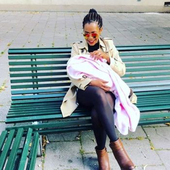 Angella Vivienne Birungi with her newly born baby