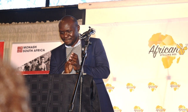 Aaron Kirunda at the 1st African Spelling Bee