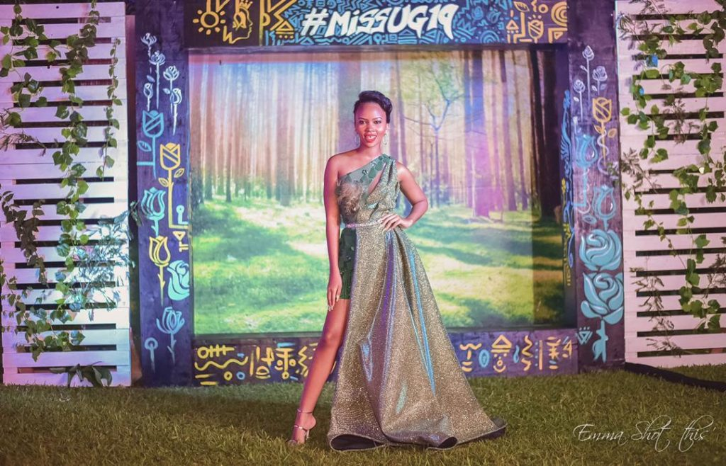 Gashumba's Beryl Qouture gown wins Miss Uganda 2019 red carpet